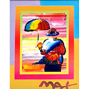 Umbrella Man on Blends, Mixed Media by Peter Max