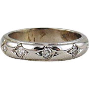 Diamond Wedding  Band  14kt  White Gold