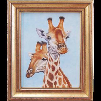 Original Miniature Painting by Beverly Abbott - Mates