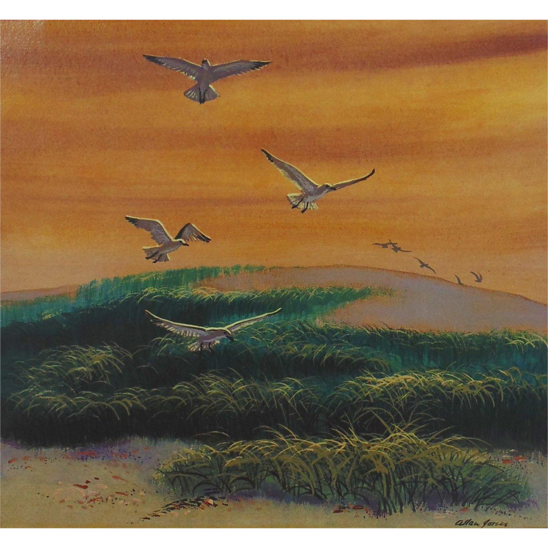 Golden Skies, Original Acrylic Painting by Listed Virginia Artist, Allan Jones