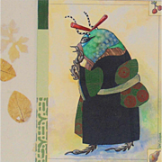 Original Mixed Media  Painting by E M Corsa-Japanese Beetle