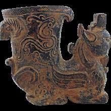 Chinese Hard Stone Figure Vessel