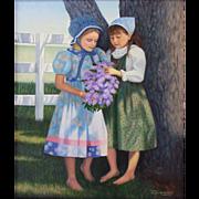 Original Oil Painting by B J Lawson-Friends