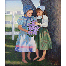 Original Oil Painting by B J Lawson-Friends
