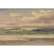 Original Oil Painting by M Charles-Soaring Above the Waves