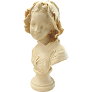 "Bust of Young Girl, signed ""Paris-Grinam Niam"""