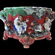 Japanese Pottery-Sumida Gawa Footed Urn with Handles