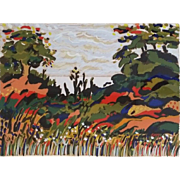 Untitled Landscape, Serigraph by Yehouda Chaki (Greek: b, 1938)
