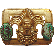 Antique Czech Egyptian Revival Brooch-Neiger Brothers Style