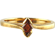 Brown Diamond Ring 18kt Yellow Gold -Size 7