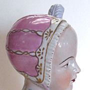 Dresden Porcelain Bust of a Young Girl, Augusta Rex Mark