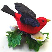 Lenox Porcelein Figurine of A Scarlet Tanager / Bird