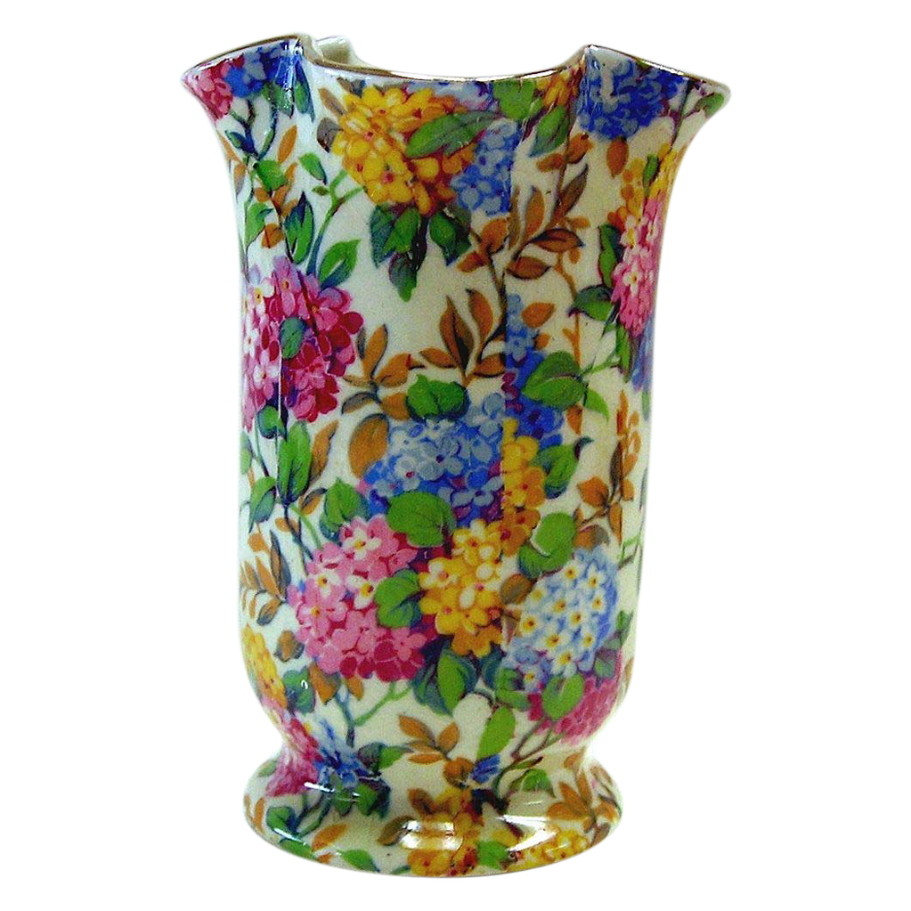 Chintz Vase, Ivoryware,  Empire, Lilac Time