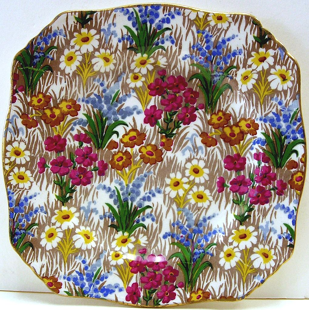 Chintz Plate, Royal Winton, Marguerite