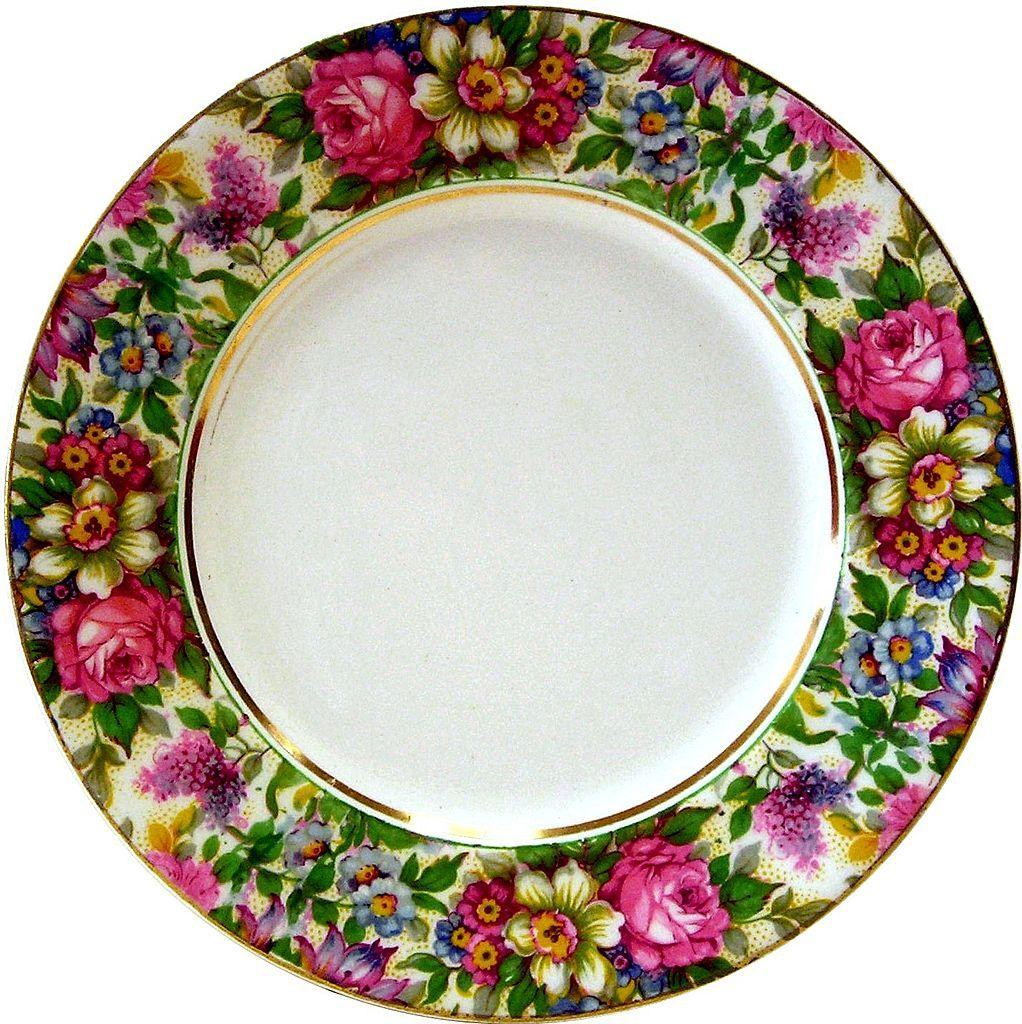 Chintz, Palissy, Round Plate