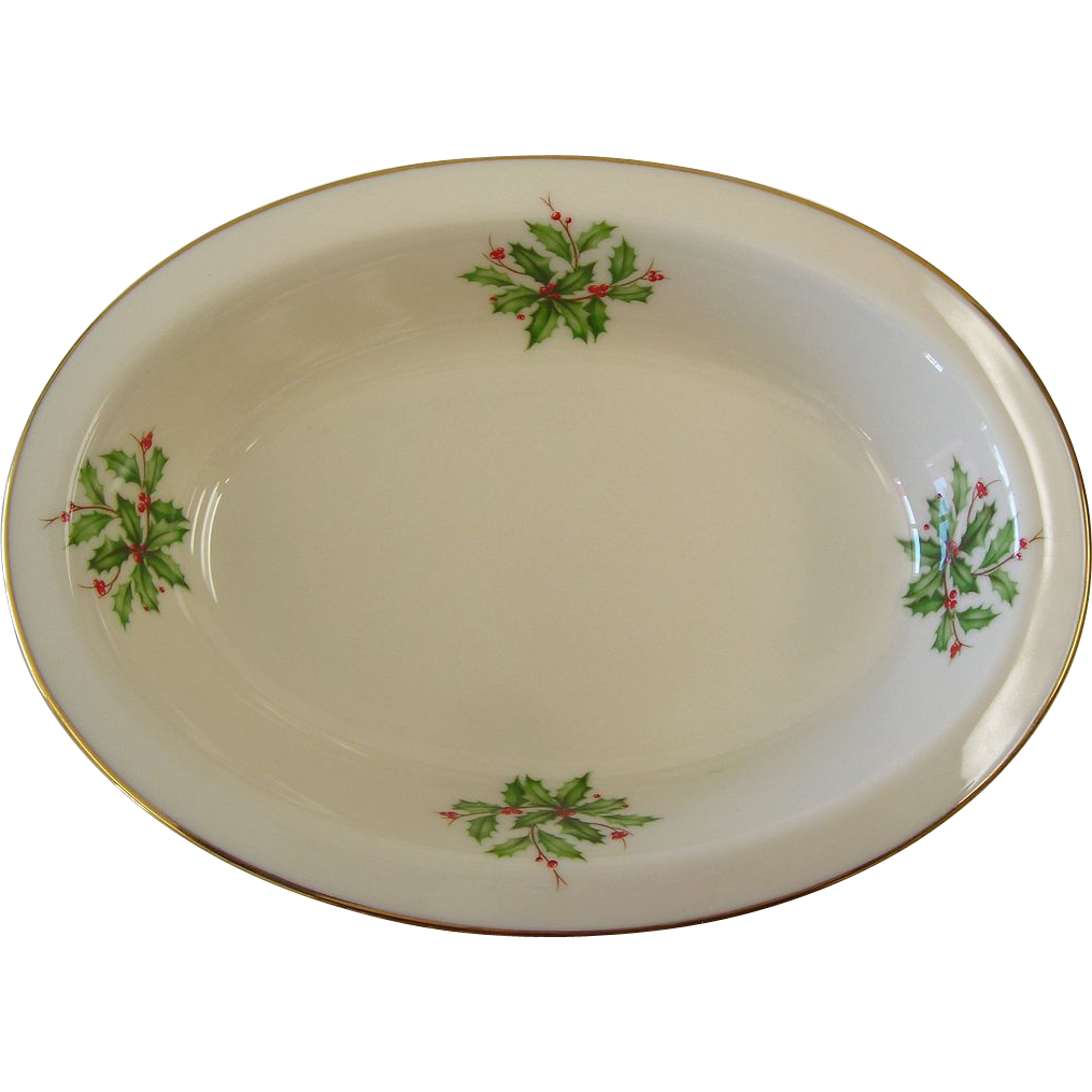 Lenox  - Holiday - Small Oval Dish
