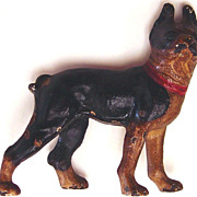 Vintage Cast Iron Dog Paperweight