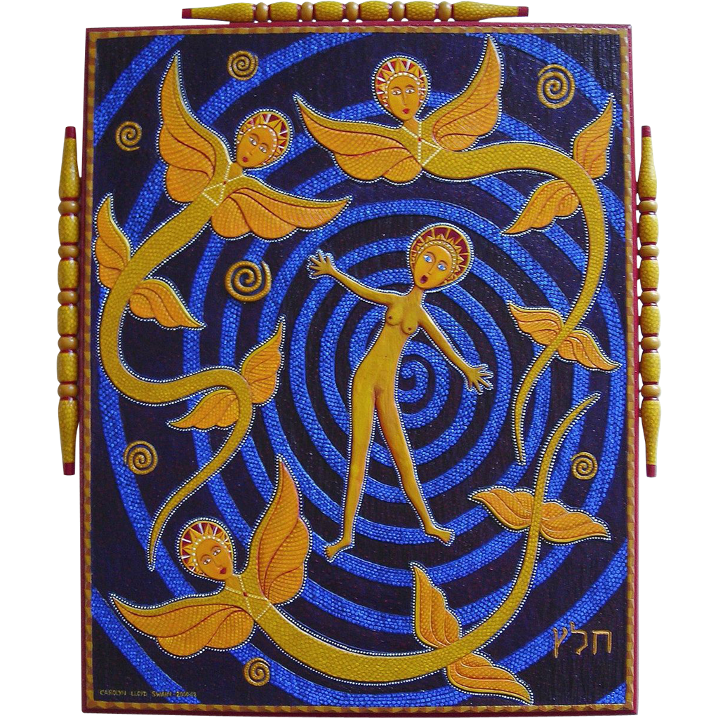 Deliverance, Low Relief Carved Painting by Carolyn Lloyd Swain