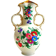 Antique Floral Porcelain Vase by Doulton - Burslem