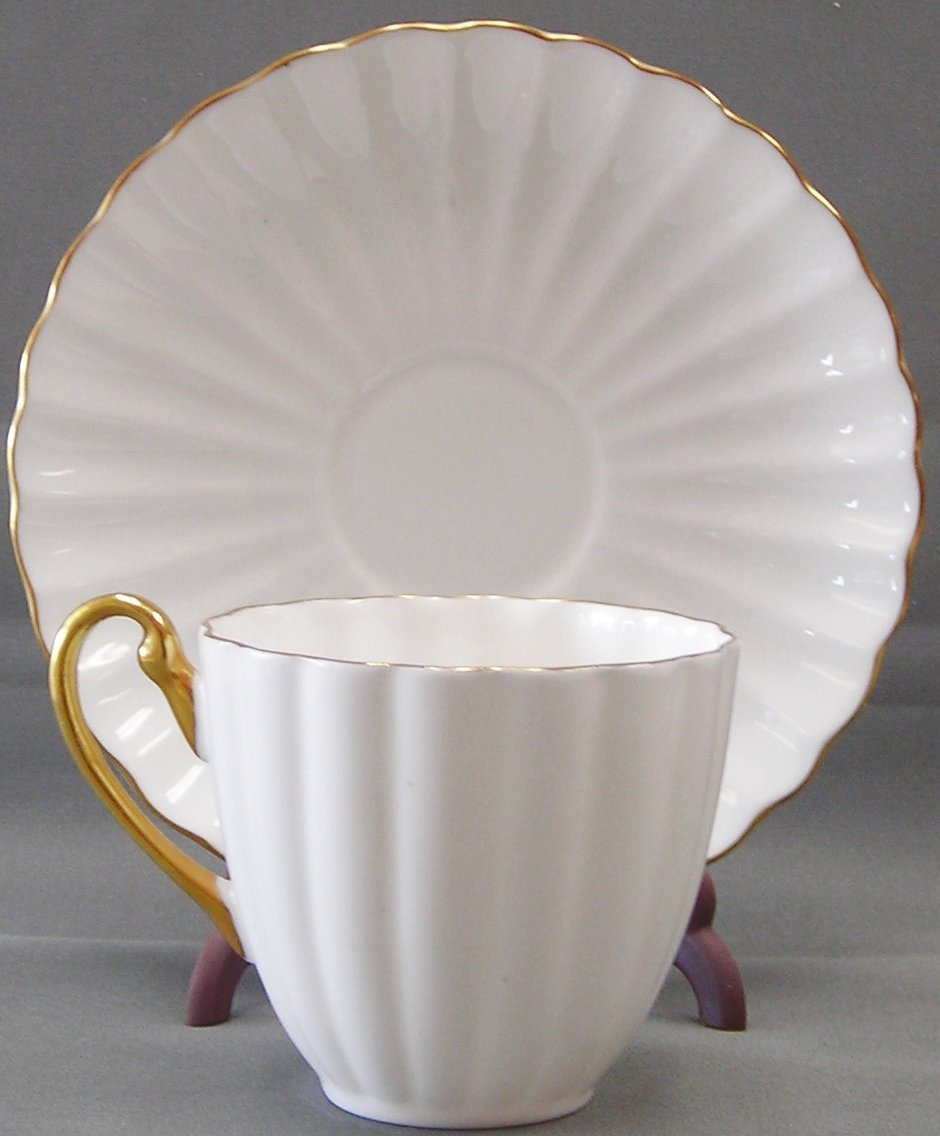 Fine English Bone China Cup & Saucer Set by Shelley