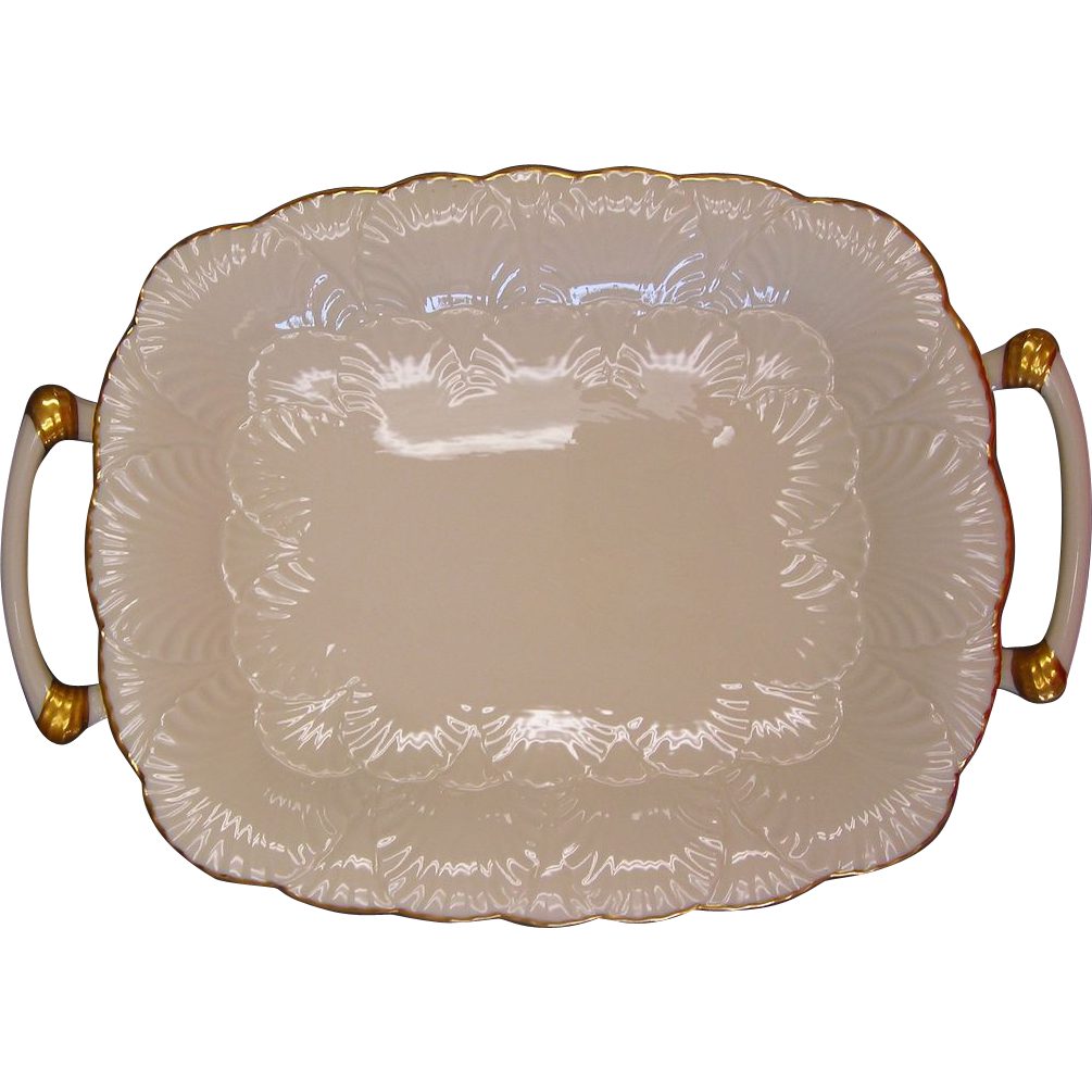 Oblong Gold Trimmed Platter by Lenox