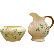 Irish Belleek - Sugar & Creamer  - Circa 1926 - 1946