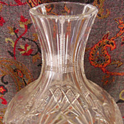 American Brilliant Period Cut Glass Decanter or Carafe