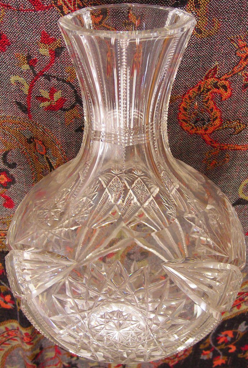 American Brilliant Period Cut Glass Decanter or Carafe