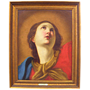 Mary Magdalene  -  Antique Oil Painting - 18th  Century