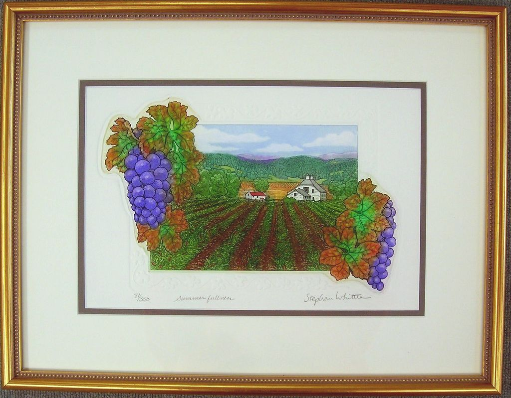 Wine Country Original Etching by Stephan Whittle