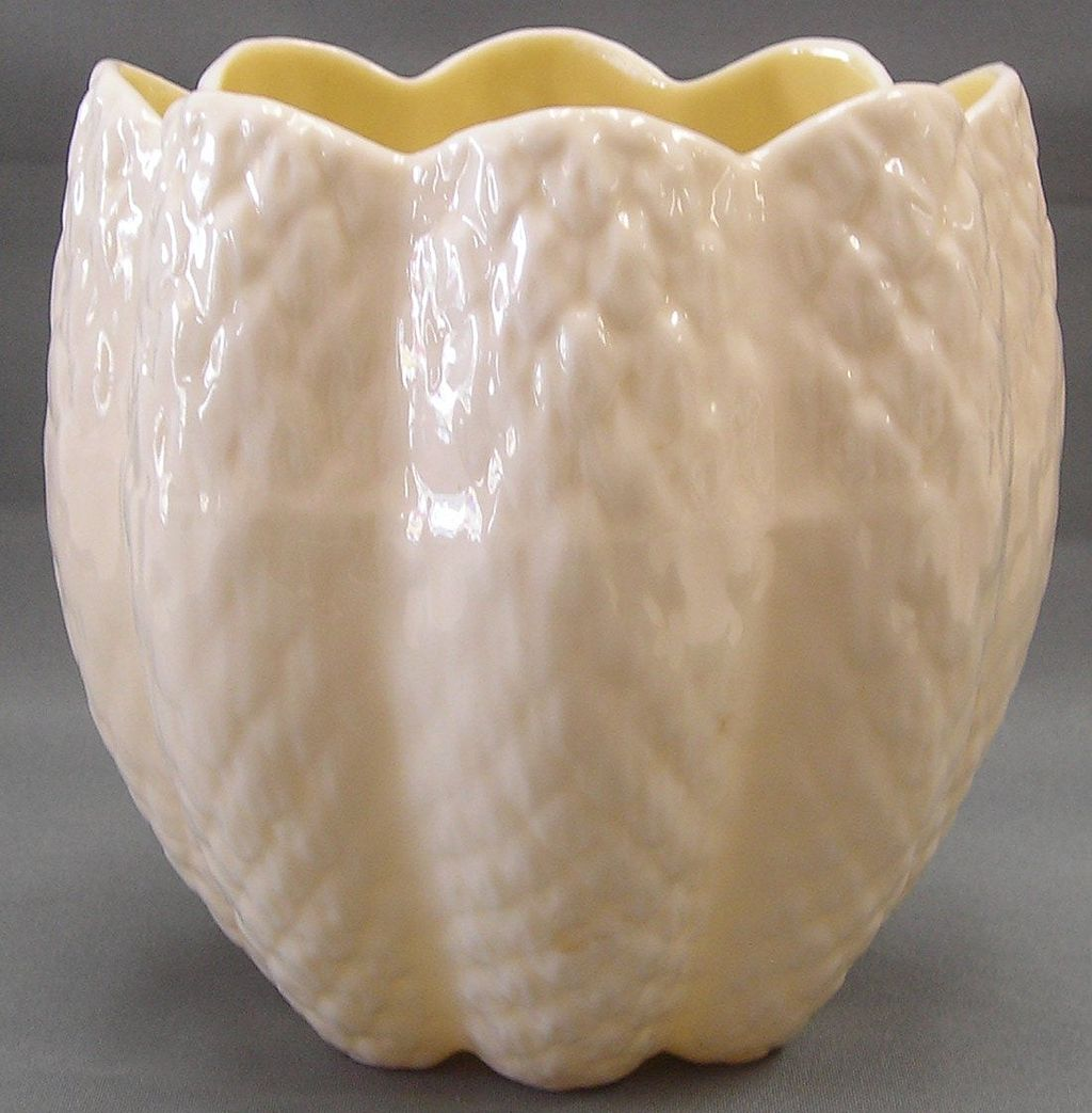 Irish Belleek - Tulip Shaped Vase-3rd Green Mark
