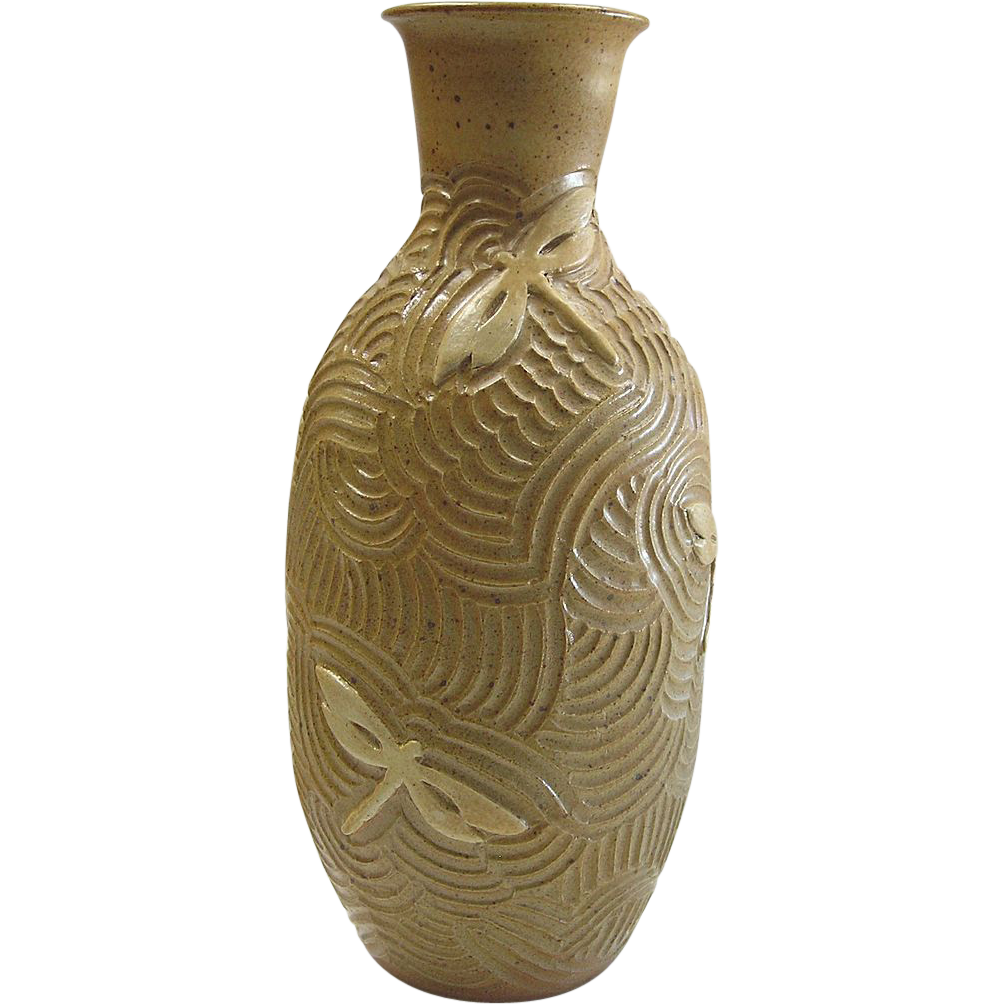 NC Pottery - Dragonfly Vase by Diane Lee - Large