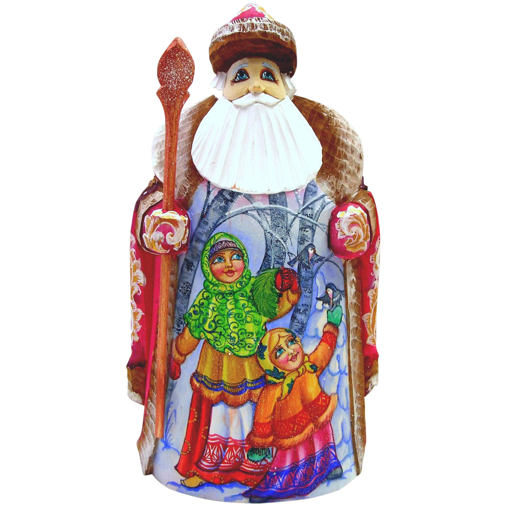 Large Russian Santa - Hand Carved & Painted