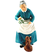 Royal Doulton Figurine - The Favorite  -  Woman & Cat