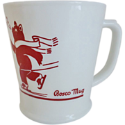 Bosco Skating Bear Mug by Fire King - Red Tag Sale Item