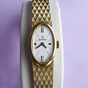 18K Yellow Gold Manual Wind La Martine Bracelet Watch
