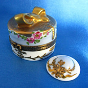 LIMOGES Box Hand Painted & Signed w/Removable Hat