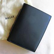 Unused BALLY Men's Black Leather Wallet
