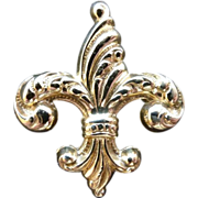 12K Gold Filled Fancy Fleur-de-Lis Watch Pin