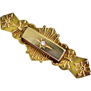Rose Cut Diamond 9K Brooch Circa 1900