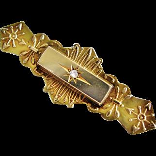 Rose Cut Diamond 9K Brooch Circa 1900