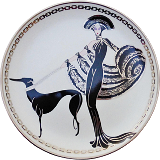 ERTE Symphony in Black Ltd. Edition Collector Plate