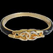 Vintage GUCCI Monogram Black Snakeskin Bracelet