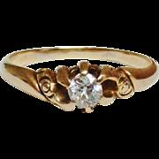 14K Victorian 1/4 Ct. Old European Cut Diamond Ring