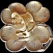 Antique Art Nouveau Swivel Top Brass Inkwell