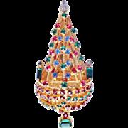 Vintage JOSEPH WARNER Christmas Tree Brooch/Pin