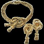 JULIO MARSELLA Jewels By Julio Tassel Bracelet & Earring Set