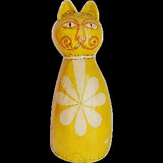 Vintage Signed GEMMA TACCOGNA Papier Mache Cat