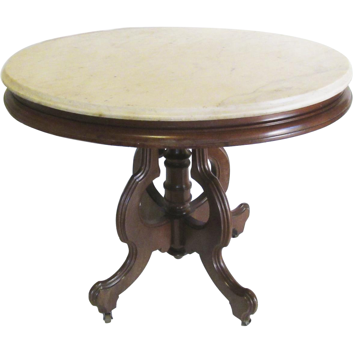 Impressive Large Oval Victorian Marble Top Table