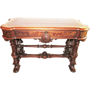 Renaissance Revival Museum Quality Library Table